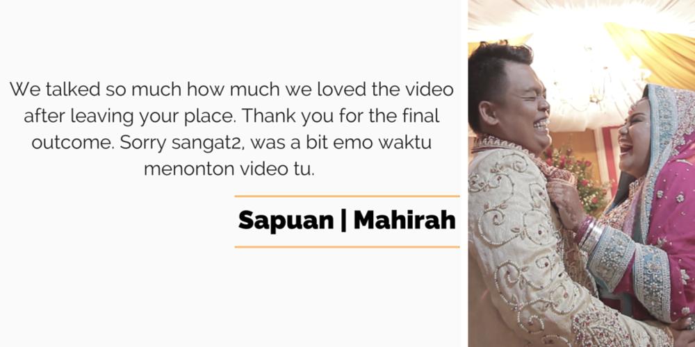 Singapore malay wedding video services reviews