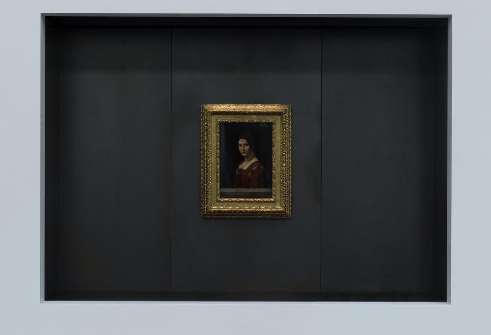 達文西(Leonardo da Vinci)的畫作《美麗的費隆妮葉夫人》(La belle ferronnière) © Louvre Abu Dhabi, MD