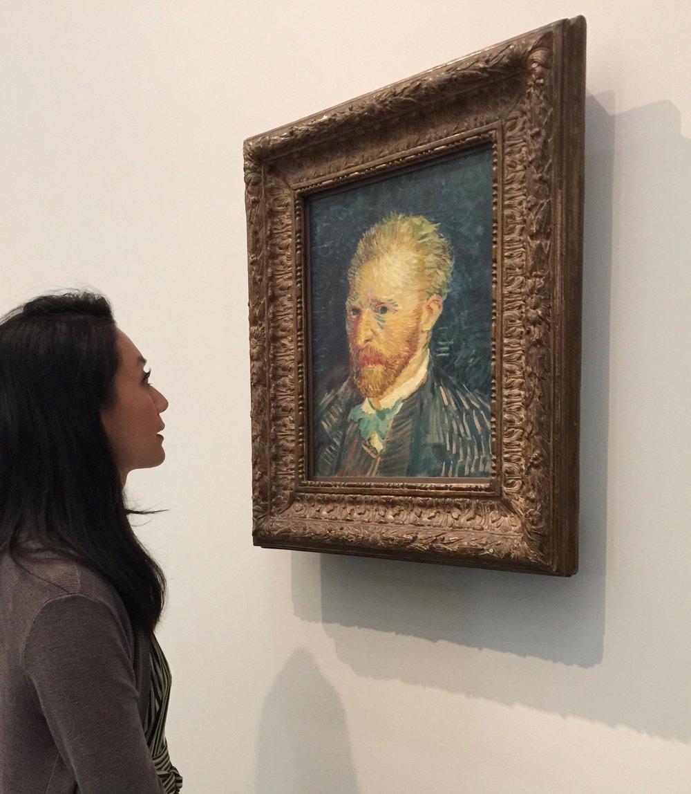 梵高(Vincent van Gogh)1887年的自畫像©Per Artem Lumen Limited