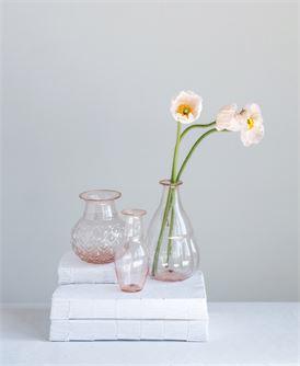 2-1:4%22 Round x 5%22H Hand-Blown Glass Vase, Pinkb.jpg