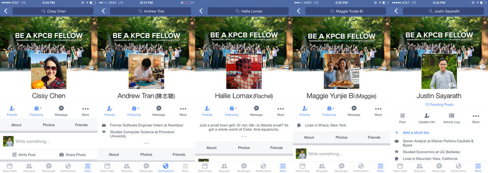 We made sure that each fellow had the most memorable summer possible so that they would go back to their schools and broader communities, and spread the word. Without asking, fellows took initiative themselves to tell others, like changing their Facebook cover photos.