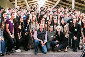 The 2016 KPCB Fellows at their welcome reception, this class was marked the five year anniversary of the program.