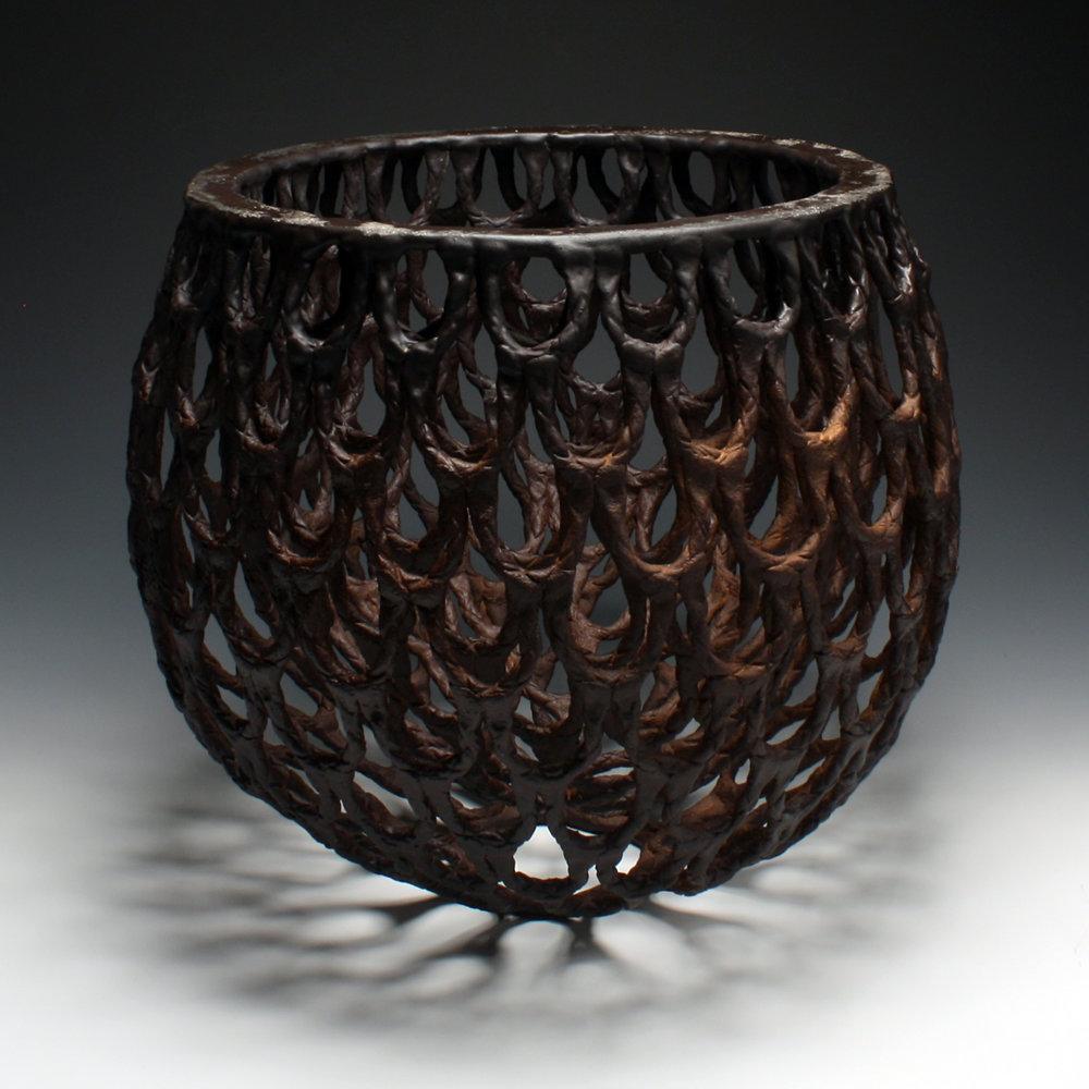 Manganese Basket , 42h x 42w x 42d cm