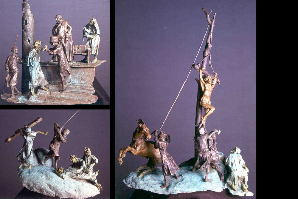 Stations of the Cross - I, IX, XI (top/bottom/right)