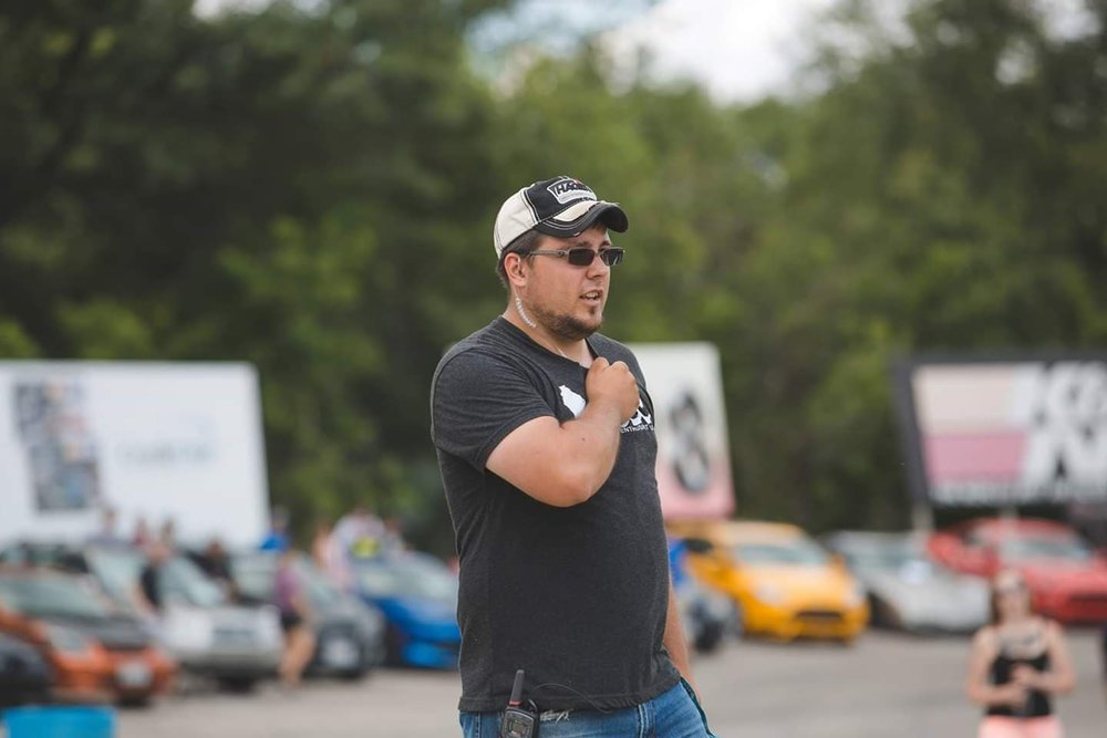 Our Co-VPs:   Dustin Korth, Vice President of Event Operations, had a passion for cars beginning as a young boy at the local dirt track with his dad. Dustin joined the WCEC Administrator team in 2015, after pairing up with them to host the 1st Annual Appleton Takeover. In 2018, Dustin was promoted to Vice President of Event Operations, and stands alongside Mariah, as Co-VP of the team.