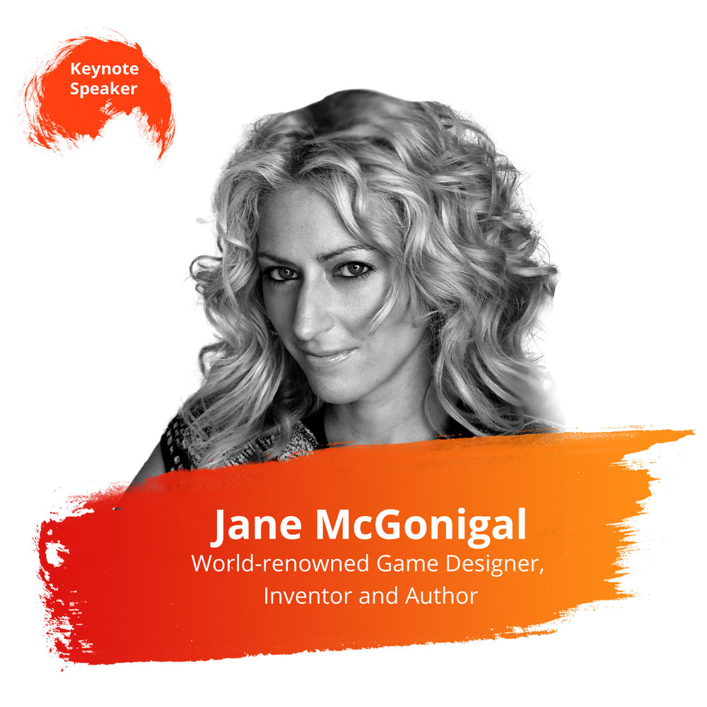 Session: Opening Keynote   Wednesday, Feb. 27 | 9:45 – 10:30am   One of 25 Successful People Who'll Help Change Your Life in 2018 - Success Magazine  Jane McGonigal is today's leading speaker on the engagement economy and the application of game- design to the real world. Referencing lessons learned through her work creating games for organizations such as the World Bank, the Olympic Games, the American Heart Association, the New York Public Library, and many more.  Jane is notable for bringing gaming to the healthcare space. Her best-known project is SuperBetter, a mobile app and web-based game that helps individuals challenge personal health challenges (depression, anxiety, chronic pain, stress reduction).  Jane McGonigal's current book,  SuperBetter: A Revolutionary Approach to Getting Stronger, Happier, Braver and More Resilient  (debuted at #7 on the  New York Times  Advice bestsellers list), reveals a decade's worth of scientific research into the ways all games change how we respond to stress, challenge, and pain. Her previous book,  Reality Is Broken: How Games Make Us Better and How They Can Change The World , is a  New York Times  bestseller.  She serves as the Director of Game Research & Development with the Institute For The Future in Palo Alto, California.
