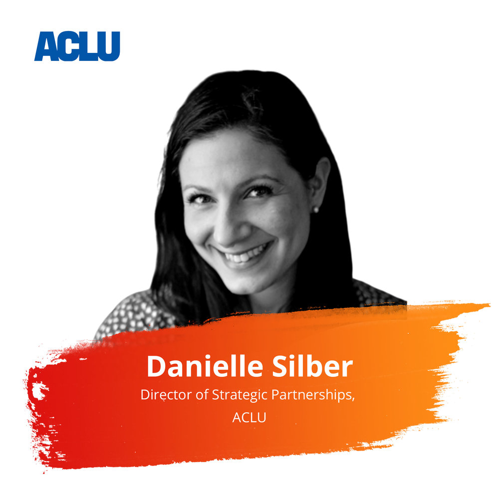 Tackling the World's Biggest Social Problems: Perspectives from the Benevity Nonprofit Community Council   Wednesday Feb. 27 | 4:30pm - 5:15pm   Danielle Silber is the Director of Strategic Partnerships for the American Civil Liberties Union (ACLU) where she leads on developing a portfolio of corporate partnerships to support the organization's fundraising, marketing, communication and advocacy objectives. In the wake of the Muslim Ban, companies began to realize the importance of internalizing the cost of democracy in the interests of their employee and customer stakeholders. She is proud to have relationships with brands that share many of the ACLU's values including Lyft, Everlane, OkCupid, Puma, Ben & Jerry's, Participant Media and Postmates.  Previously she headed up Corporate Alliances for the International Rescue Committee (IRC) where she had the privilege of designing cause marketing campaigns with brands like HBO's Game of Thrones and TripAdvisor to destigmatize and support refugees in the United States and abroad.  Before joining the IRC, Danielle taught International Studies at Washington University in St. Louis and in her spare time, served on the board of COLAGE, a national youth advocacy and education organization by and for people with one or more Lesbian, Gay, Bisexual and/or Transgender parents.  Danielle is excited to see how employee resource and affinity groups are activating around civil liberties issues from LGBT, women and immigrants' rights to racial justice and civic education. It's powerful to witness how these initiatives, concurrent with the prioritization of Diversity & Inclusion, are already strengthening companies and communities.