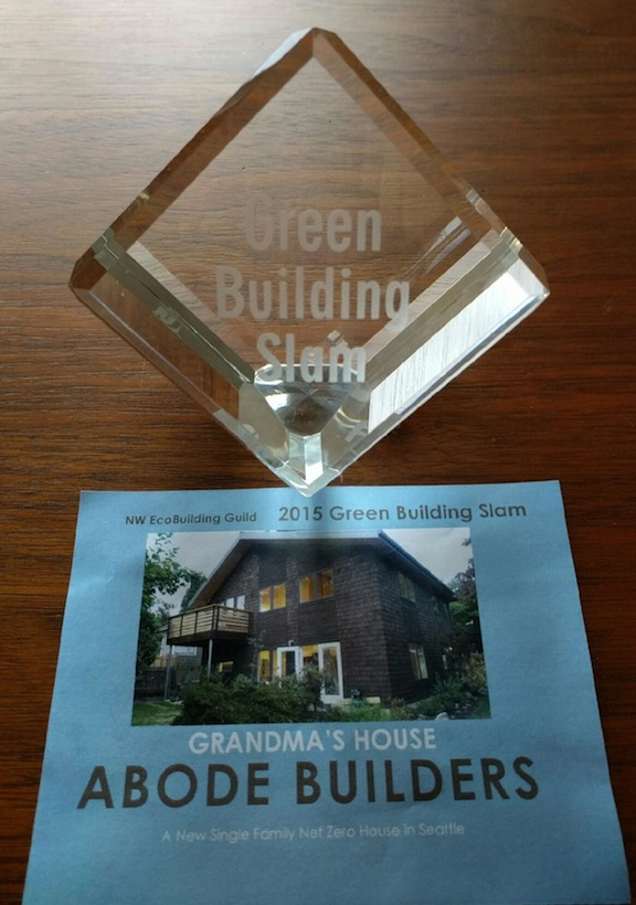 2015 Green Building Slam Award