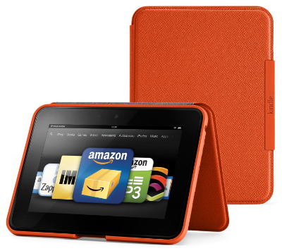 Kindle Fire HD Case  Buy for $23 on Amazon    Great for keeping the Kindle safe from drops and the screen free of scratches. Flap allows the Kindle to stand on its own.