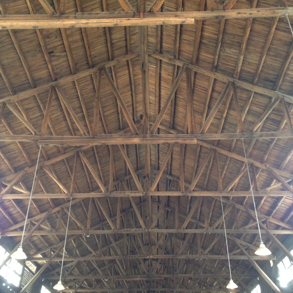 A traditional factory ceiling.