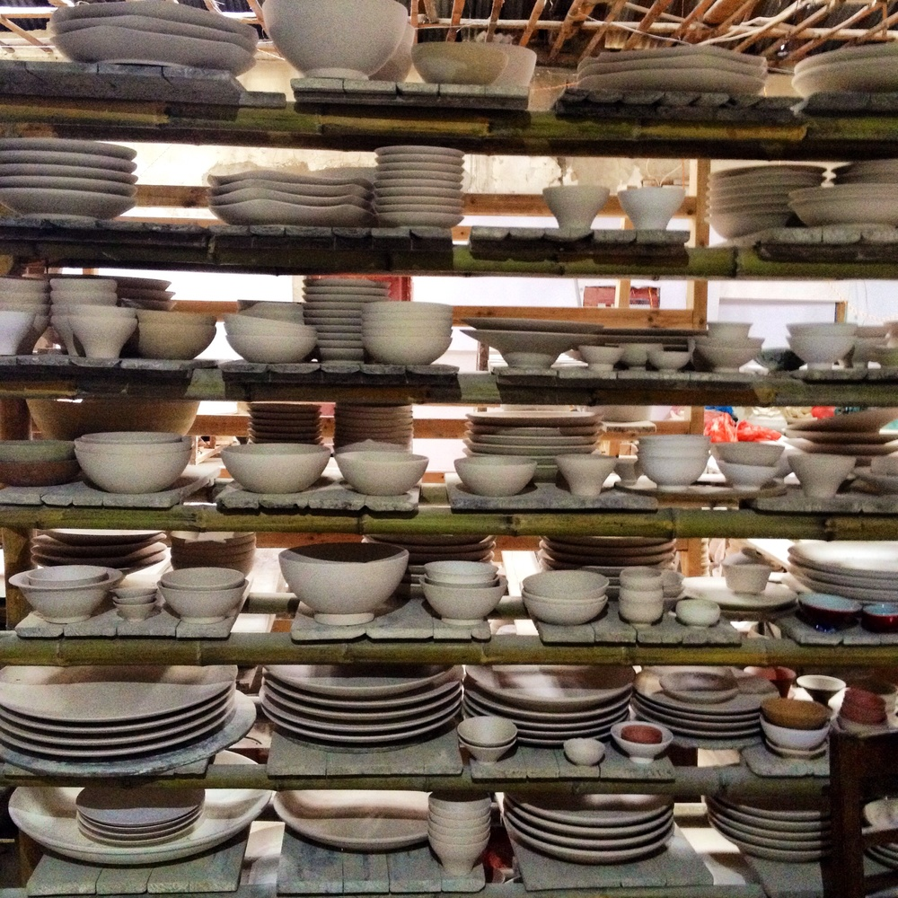 Finding plates in another little greenware factory for our traditional classes coming up.