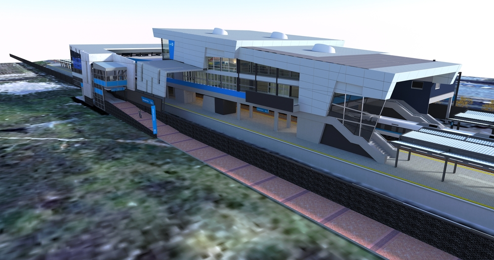 Prasa Station Modernisation rendering of Nolungile Station