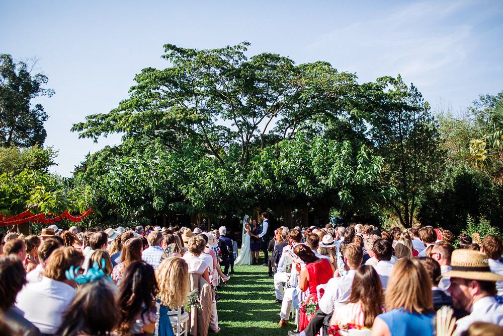 st tropez wedding photographer garden ceremony