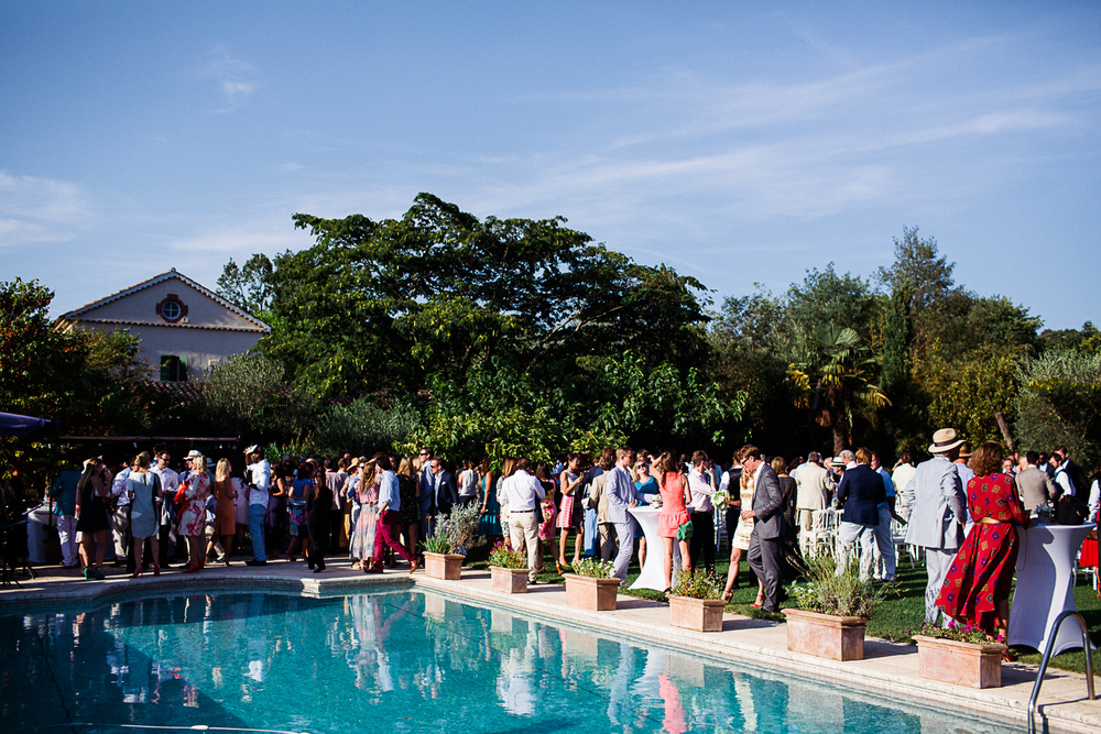 st tropez wedding photographer swimming pool cocktails