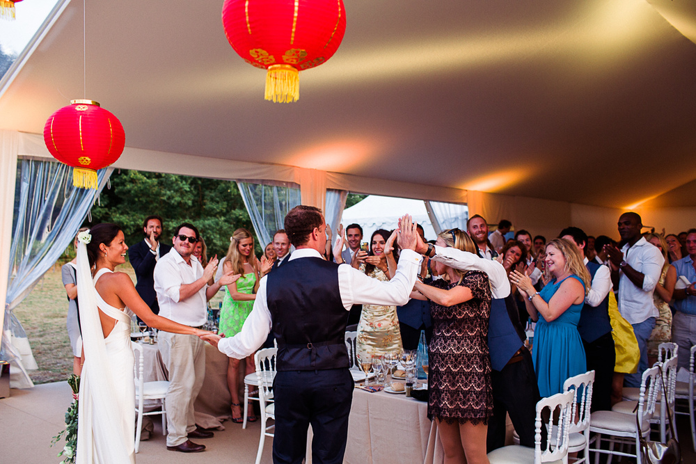 st tropez wedding photographer red lanterns marquee