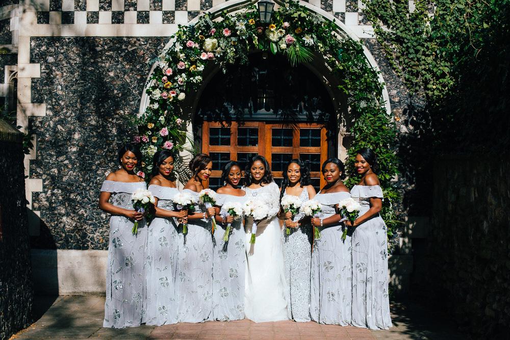 london bridesmaids pastel blue dresses nigerian