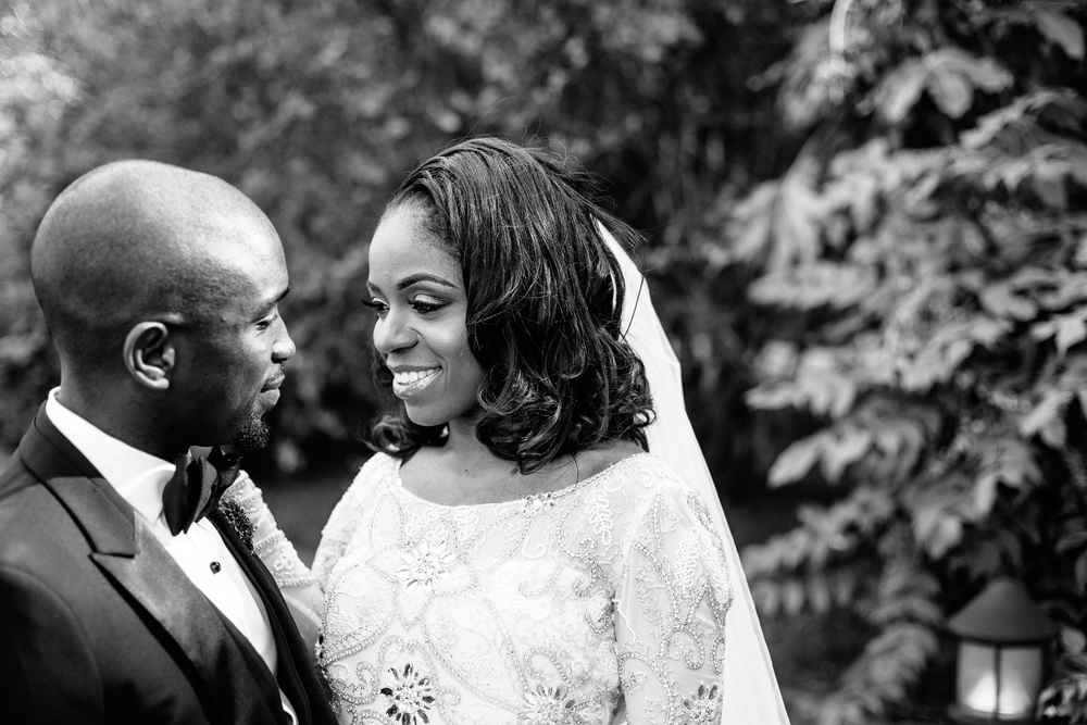 black and white nigerian bride groom london portrait
