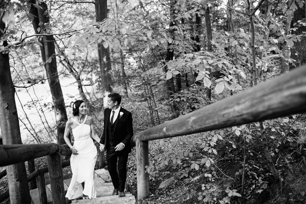 black and white forest bride groom destination wedding photography