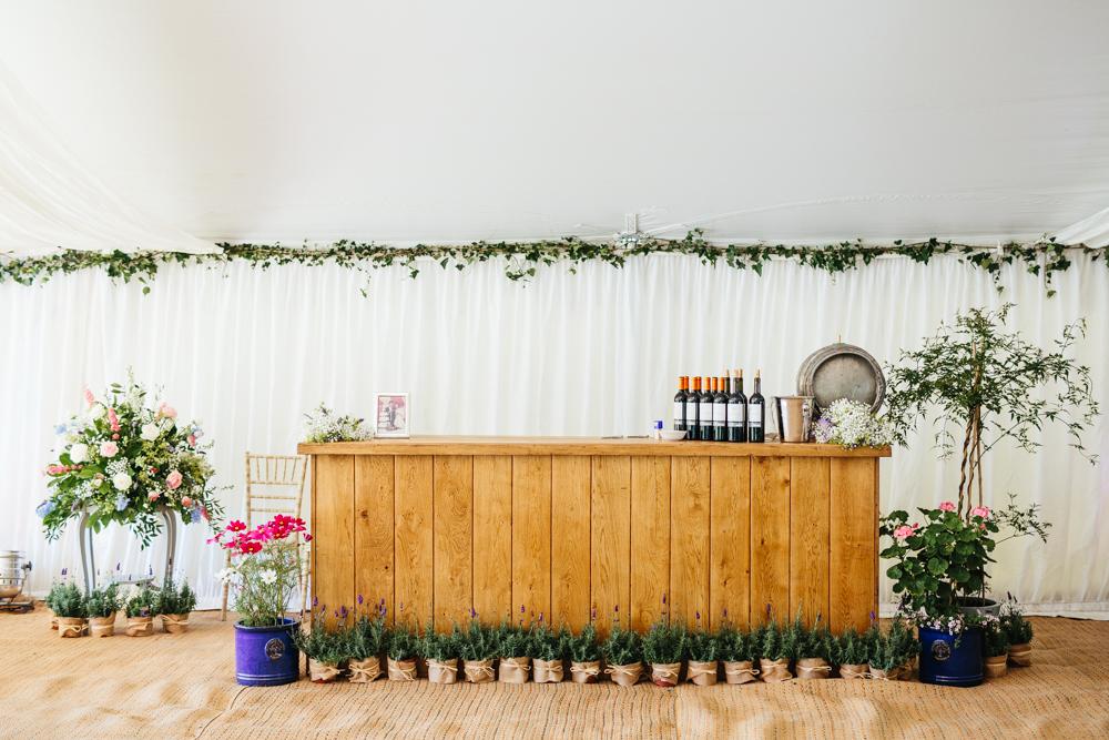 wedding bar marquee