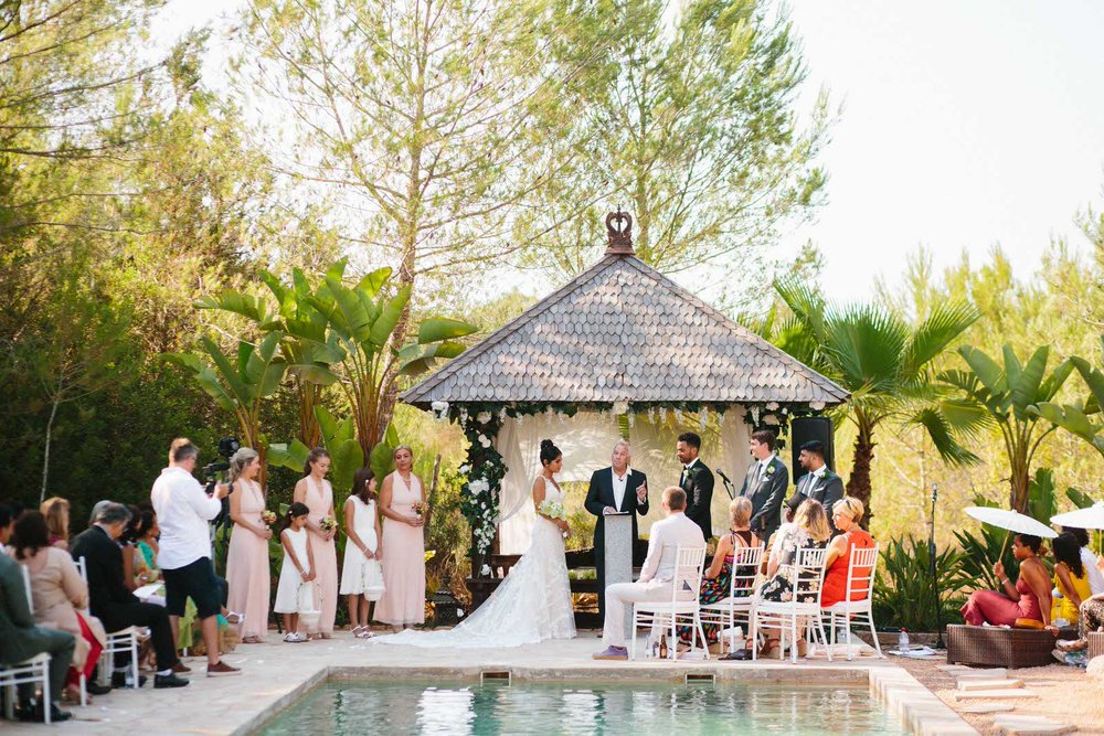 wedding by a pool ibiza