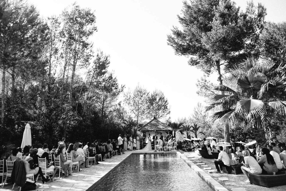 ibiza wedding photographer pool