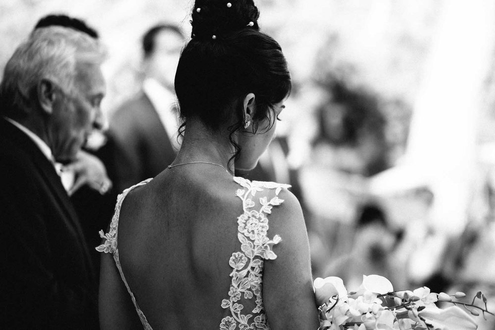 black and white bride exposed neck