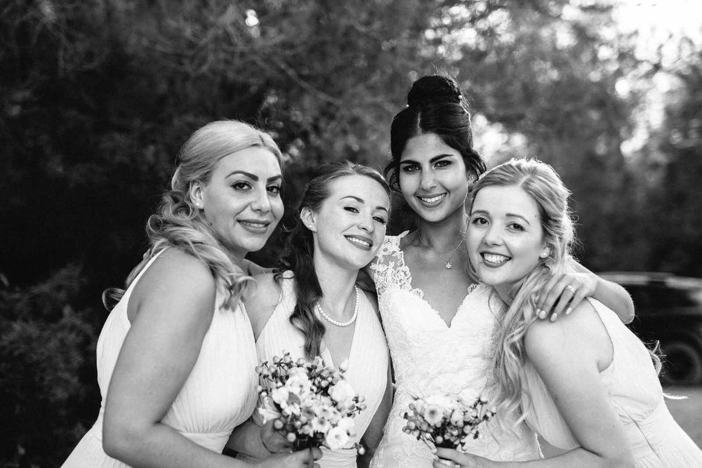 ibiza wedding photography bridesmaids
