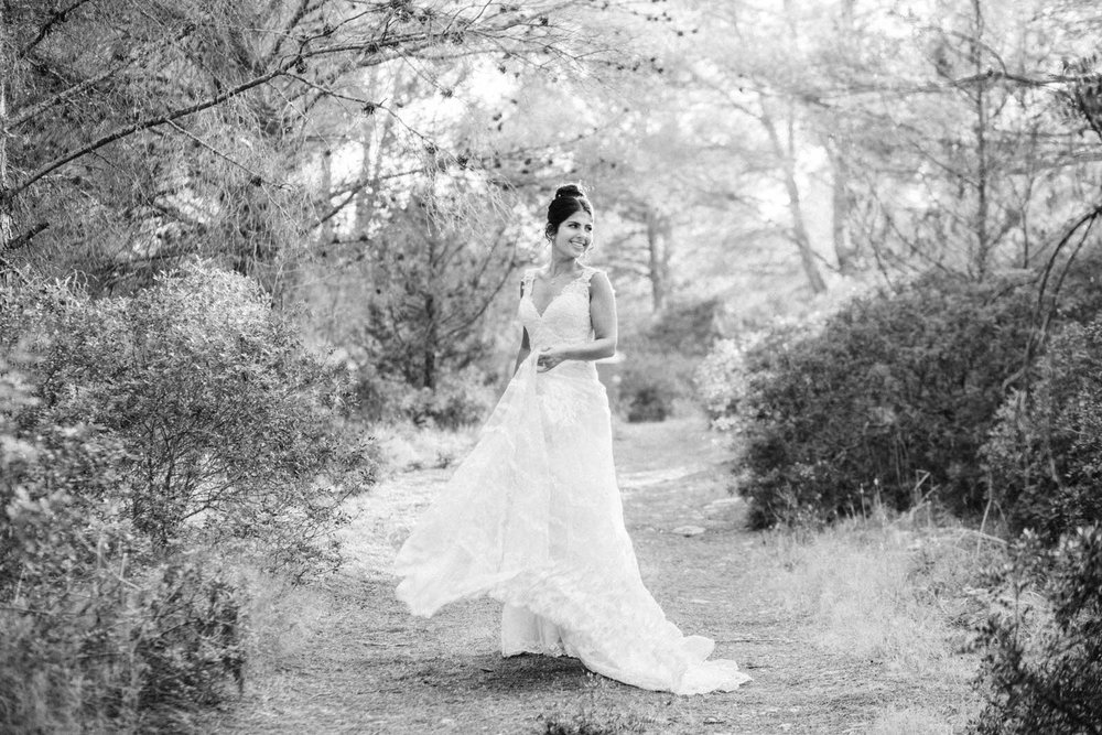 bride portrait forest ibiza