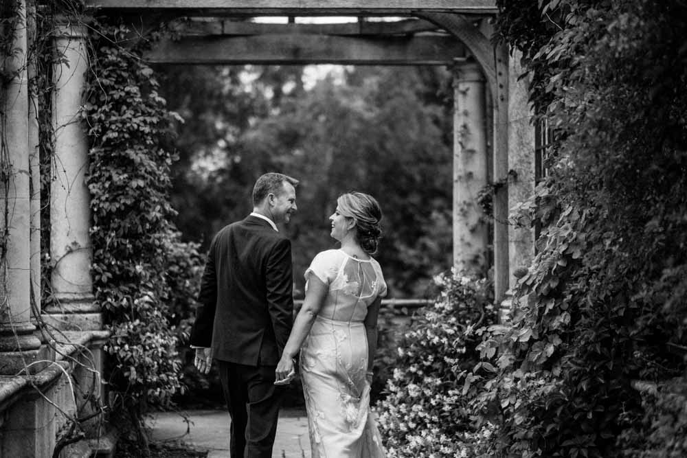 pergola hill and garden wedding