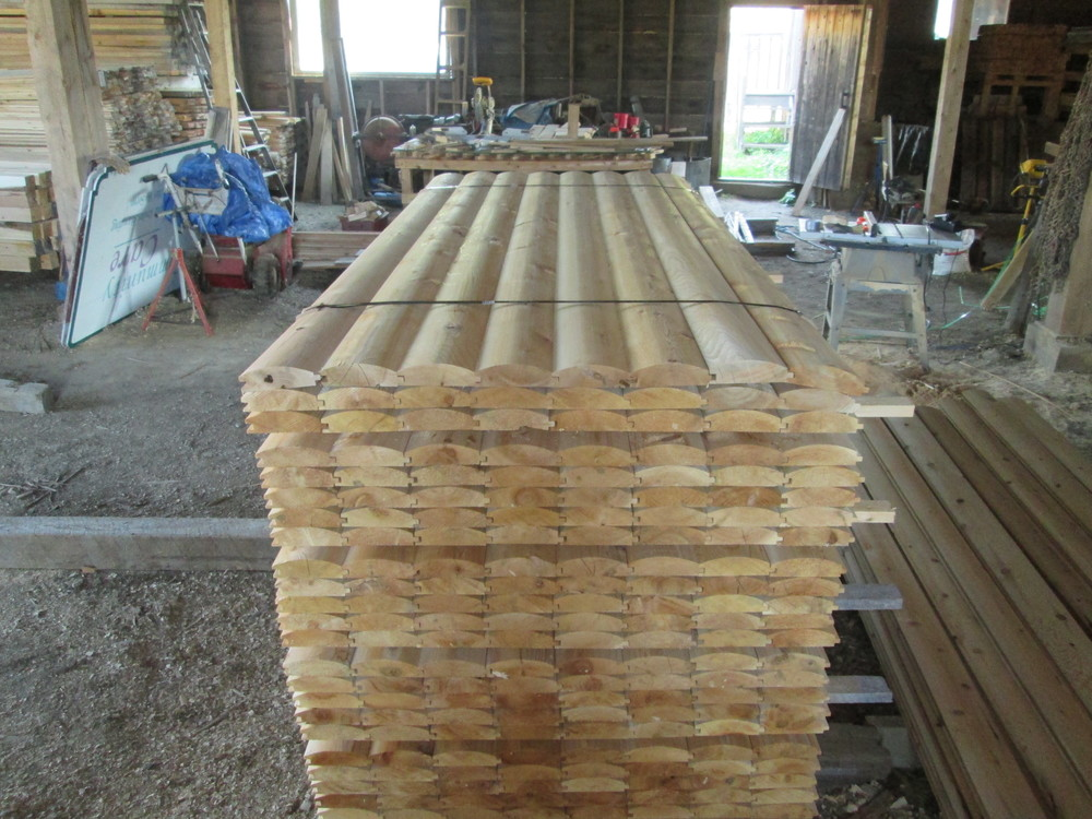 Log siding 2x6 white cedar window door and corner trim for 2x6 log siding