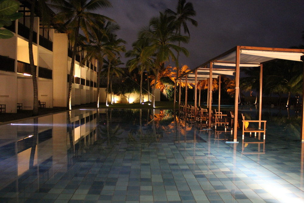 Our first hotel's swimming pool
