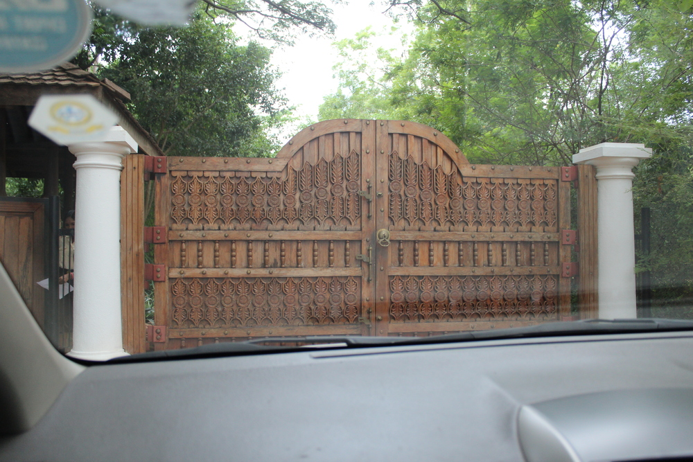 Hand carved wooden gates
