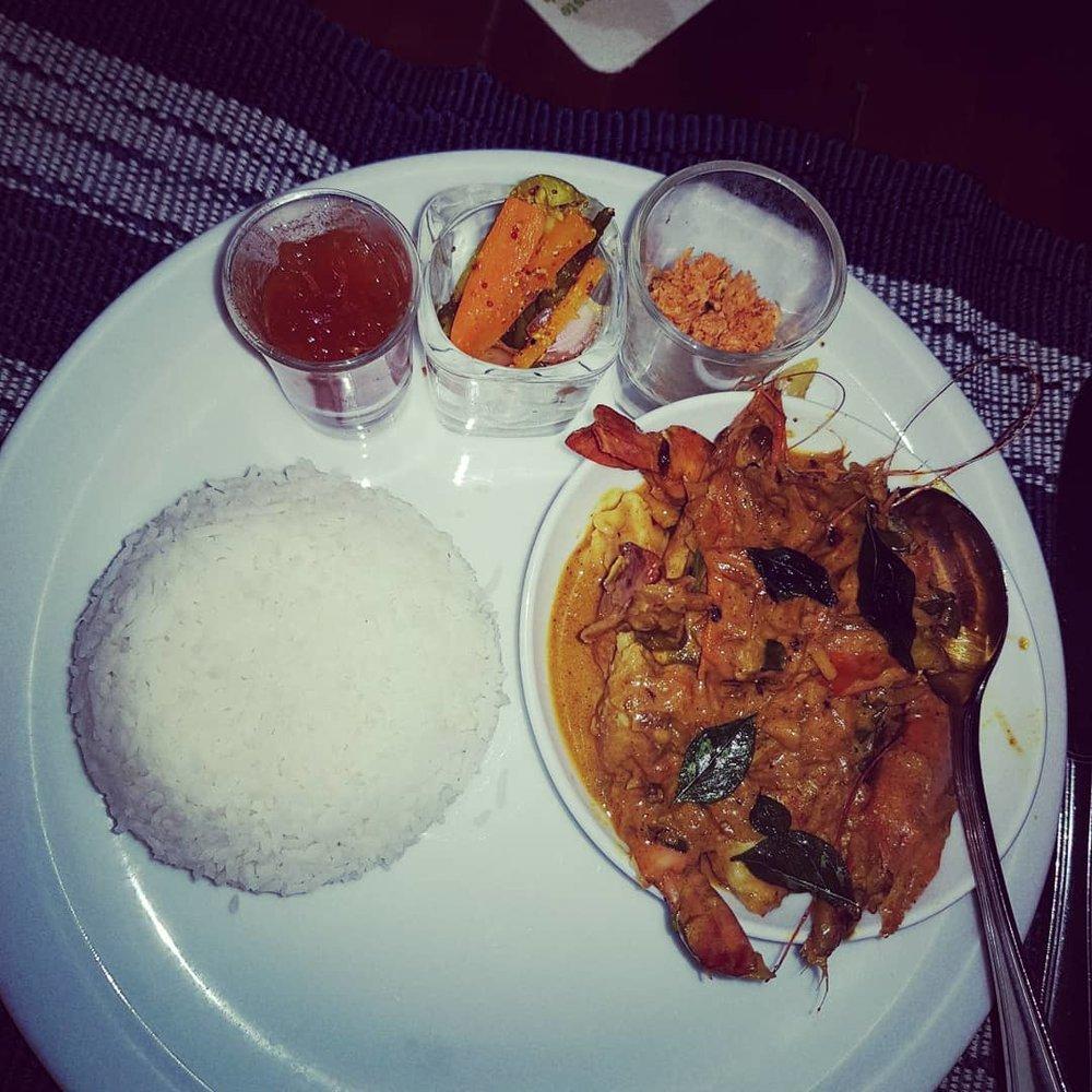 invite-to-paradise-sri-lanka-honeymoon-specialists-customer-guest-feedback-Paul-Traies-Chloe-Rowley-beach-food-coeliac-gluten-free-curry.jpg