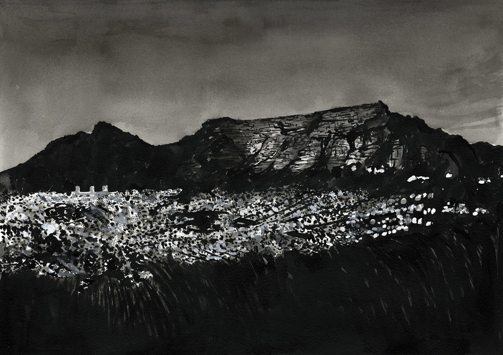 # 038 Table Mountain at night