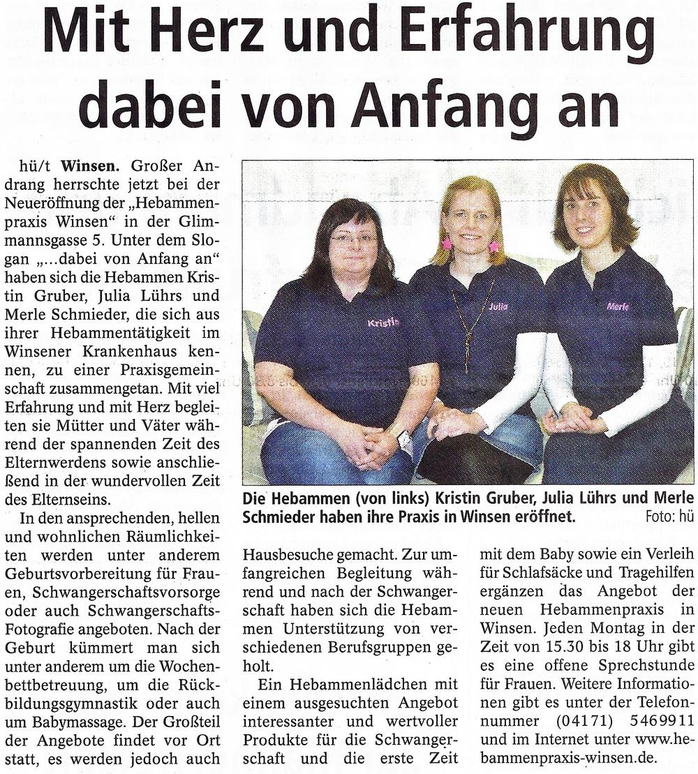 Quelle: Winsener Anzeiger, 16.04.2014