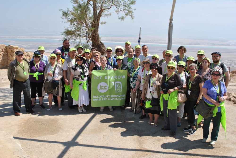 Our group at the Masada joined by Laurence Weinbaum of the World Jewish Congress.
