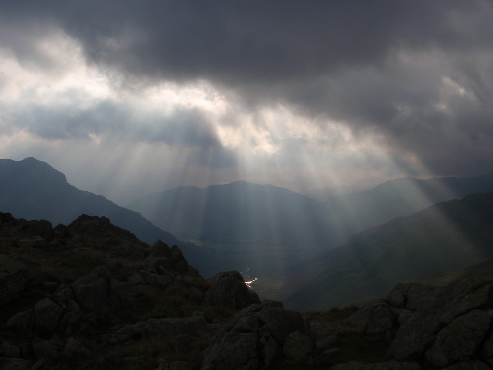 The Langdale Valley from Rossett Pike