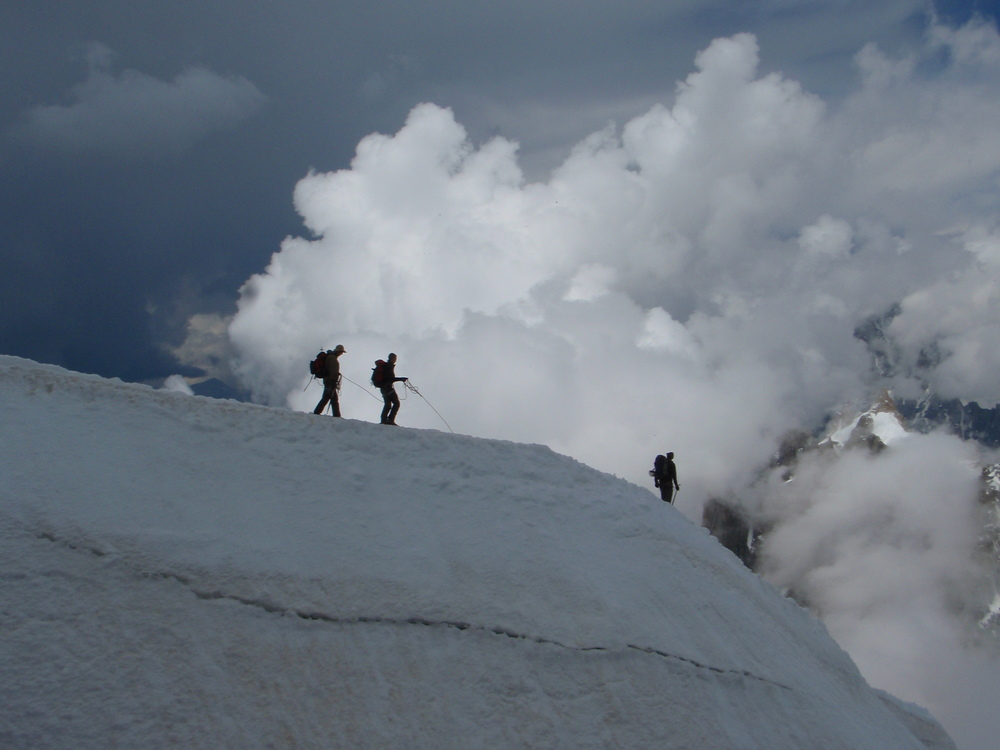 The Midi-Plan traverse, Chamonix