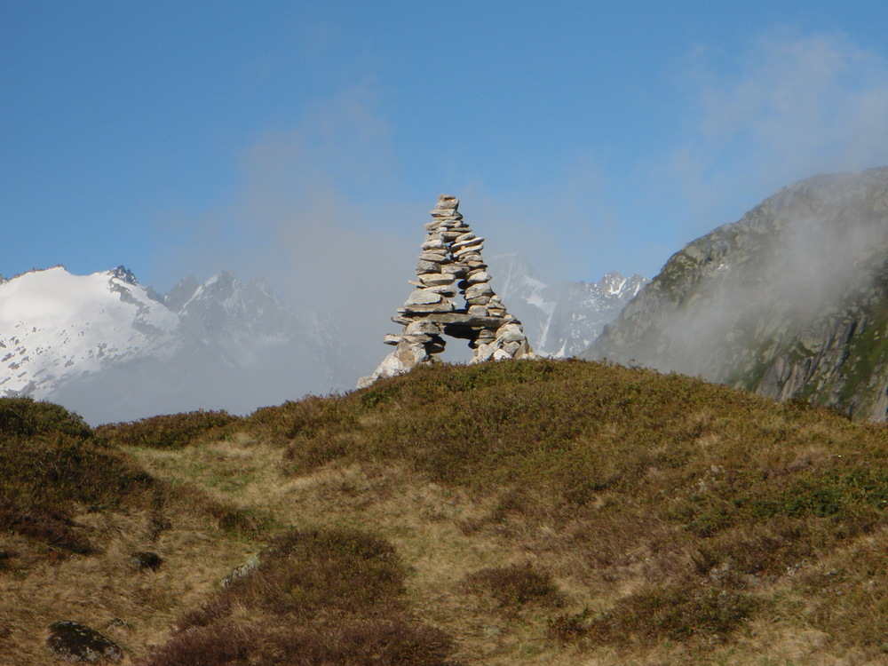 Cairn behind the Salbitzen hut, Switzerland