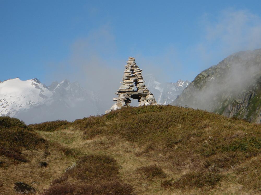 Cairn behind the Salbitzen hut, Switzerland