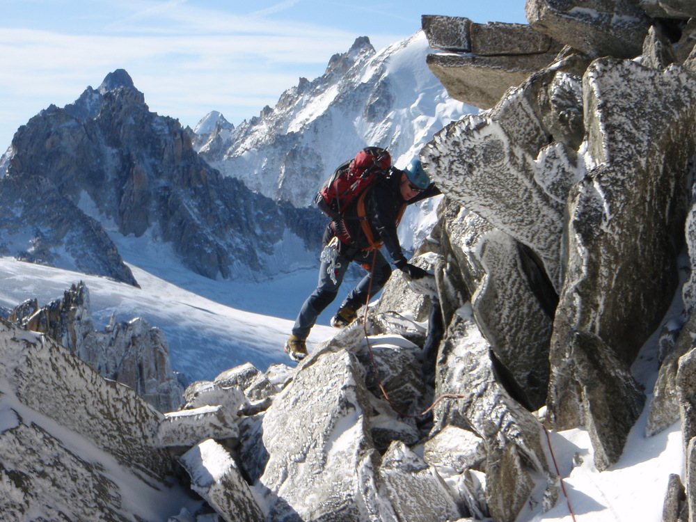 Ascending the Aiguille du Tour