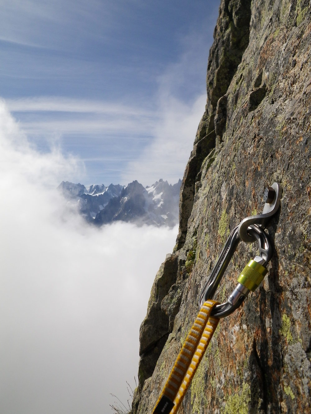 Rock climbing in the Aiguilles Rouges, Chamonix