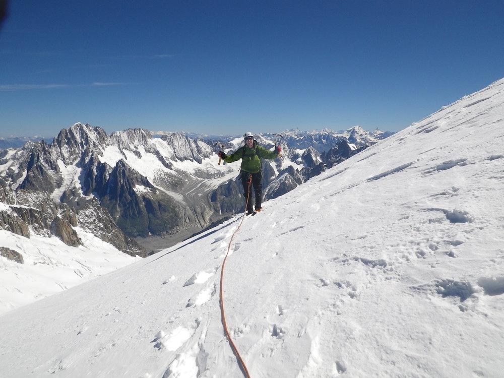 Left Edge route on Mont Blanc du Tacul, Chamonix