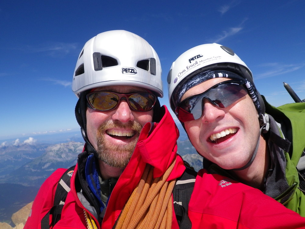 Chris and a happy client on the top!