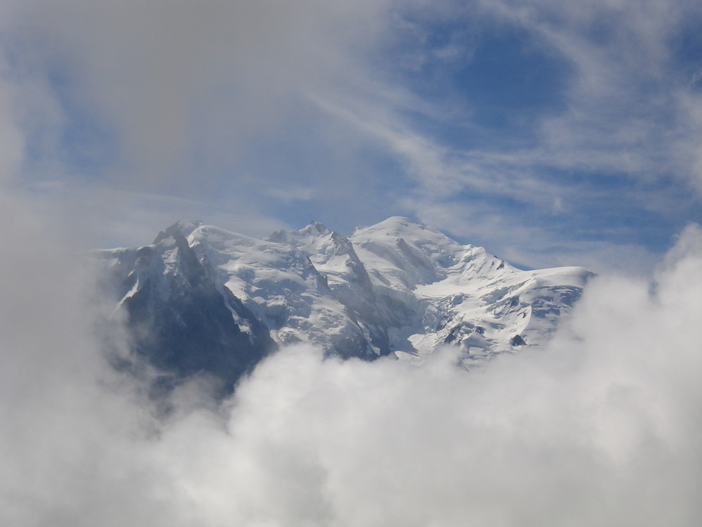 Mont Blanc and the Chamonix Aiguilles from the Aiguilles Rouges