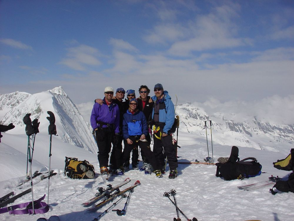On the summit of the Pigne d'Arolla