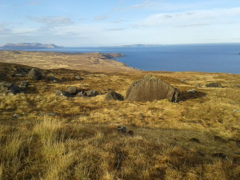 Looking towards Rhum from Skye