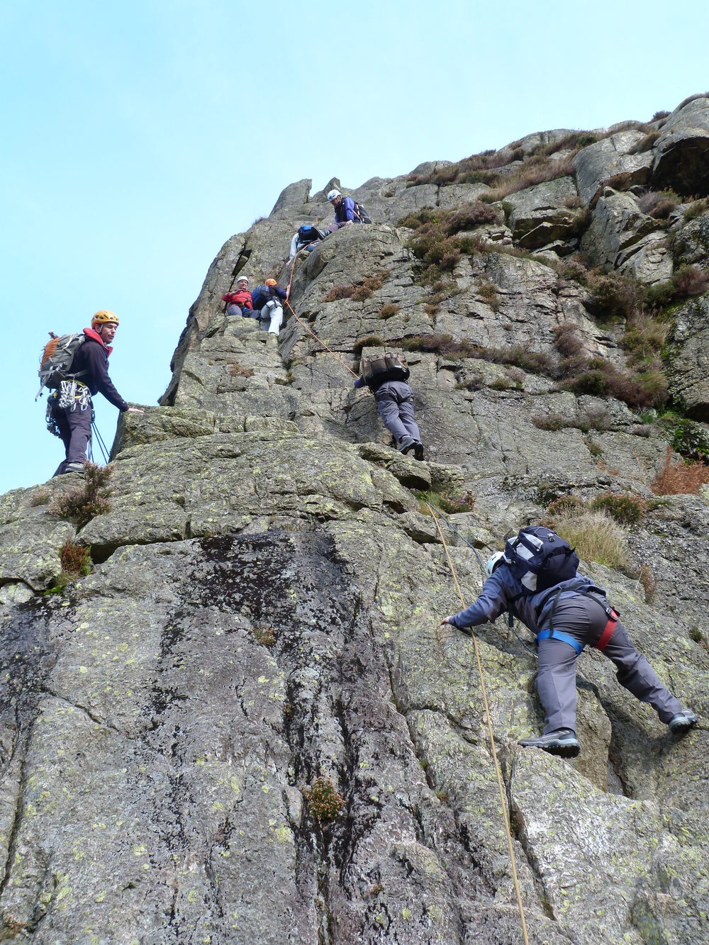 Guiding a group on Middlefell Buttress