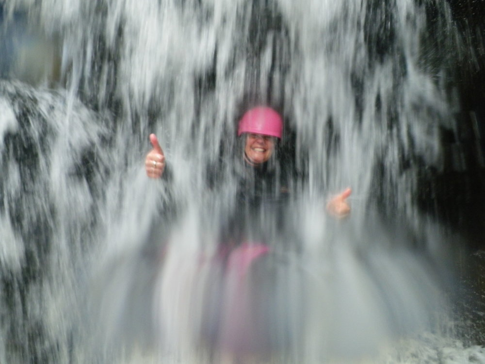 June: gorge walking training in the Afon Ddu, north Wales