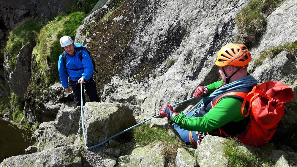 October: short roping workshop on Dow Crag in the Lake District